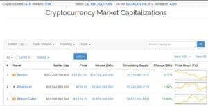 Coin Market Cap screenshot