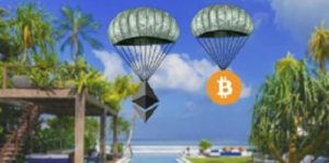 Some cryptocurrency projects offer free airdrops