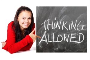 Thinking allowed to gain clarity and understanding