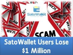 SatoWallet users lose 1 million