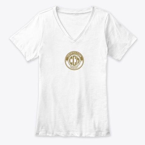 Official CryptoCoinMindSet Logo Premium V-Neck Tee