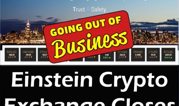 Einstein Cryptocurrency Exchange Closes