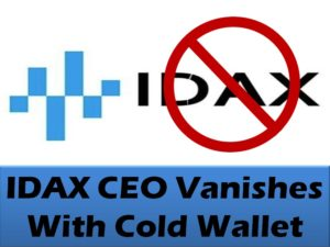 IDAX CEO Vanishes With Cold Wallet