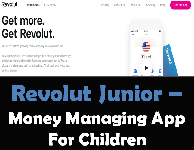 Revolut Junior- Money Managing App For Children