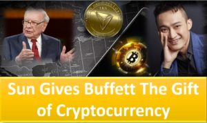 Justin Sun, CEO of Tron gifts Warren Buffett Tron (TRX) and Bitcoin (BTC)