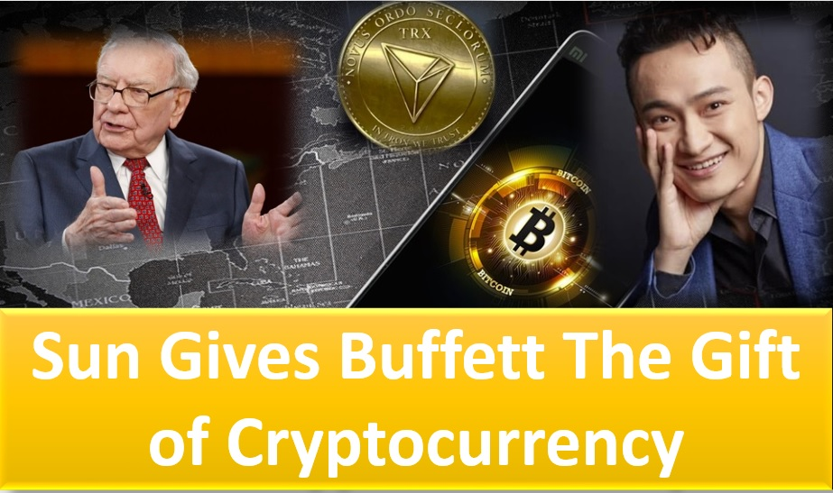 Justin Sun, CEO of Tron gifts Warren Buffett Tron (TRX) and Bitcoin (BTC)
