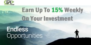 Earn weekly passive cryptocurrency income with CashFX