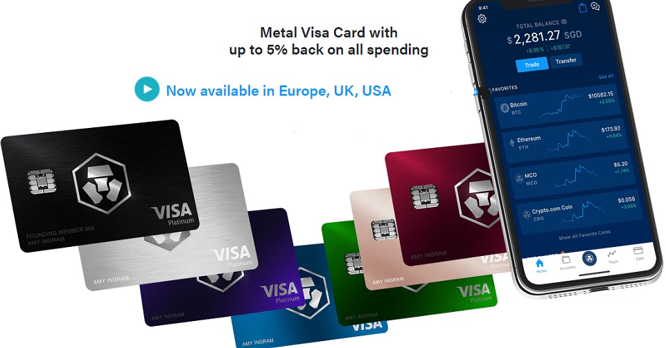 Cryptocurrency Debit Card from Crypto.com