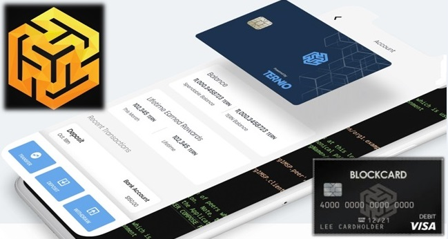Ternio Blockcard - Cryptocurrency debit card
