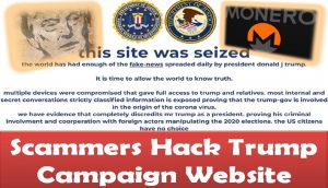 Scammers Hack Trump Campaign Website