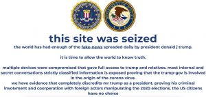 message after hack of President Trump campaign website