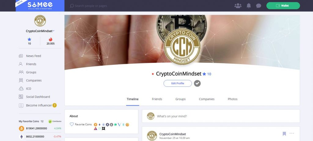 SoMee decentralized social media platform