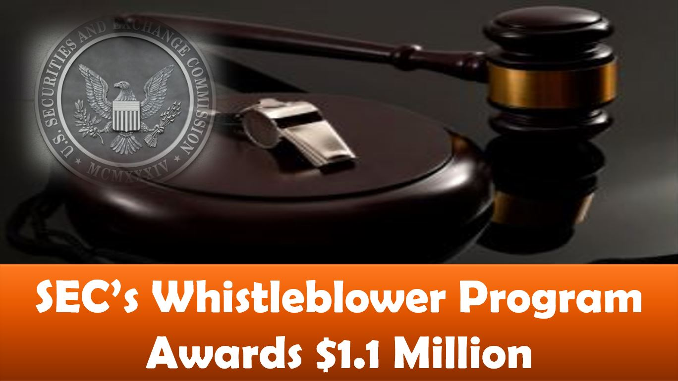 SEC's Whistleblower Program Awards $1.1 Million