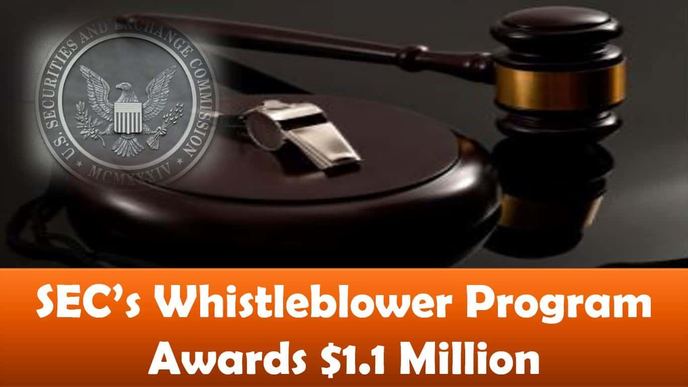 SEC's Whistleblower Program Awards $1.1 Million