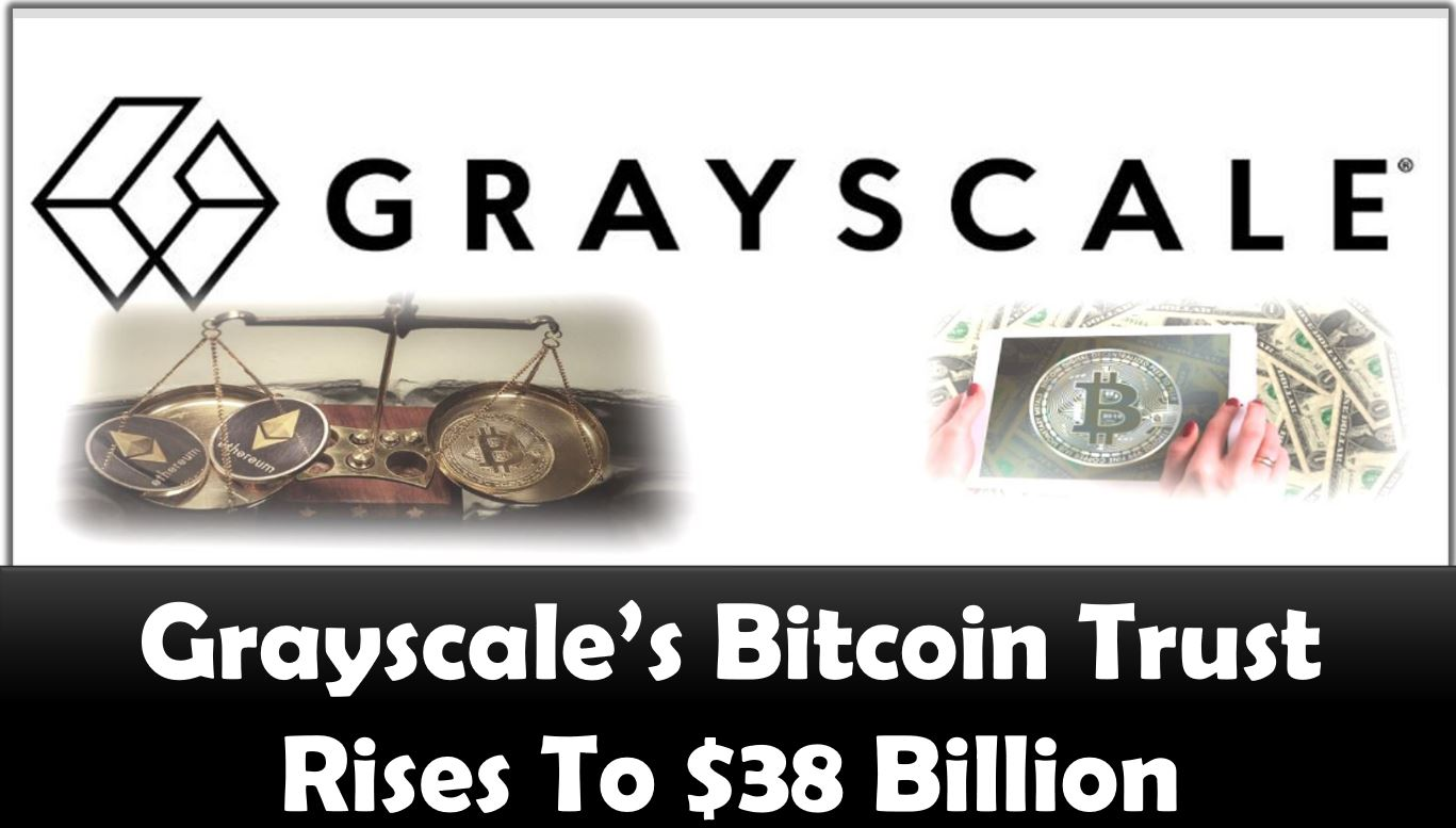 Grayscale's Bitcoin Trust Rises To $38 Billion