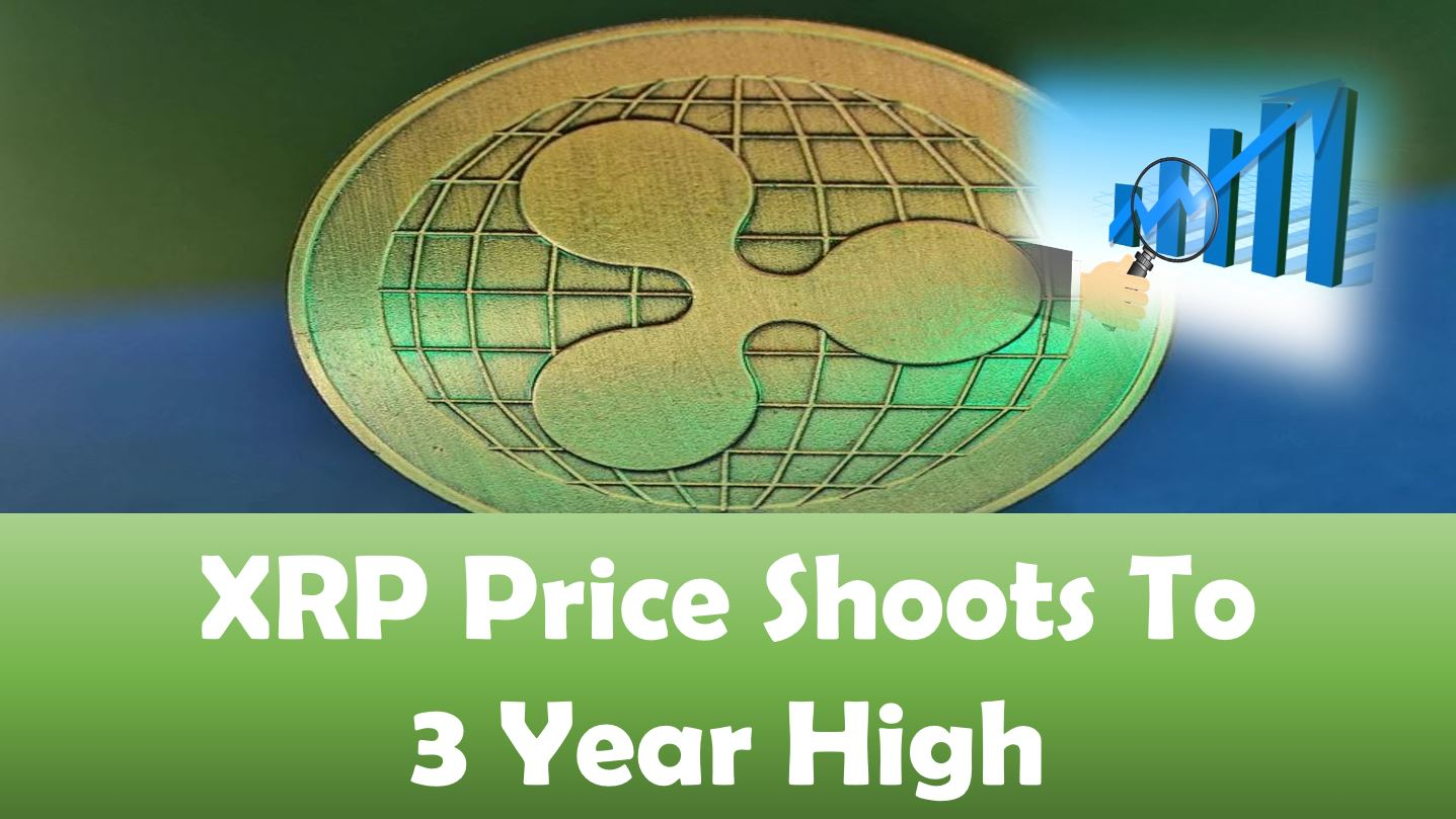 XRP Price Shoots To Three Year High