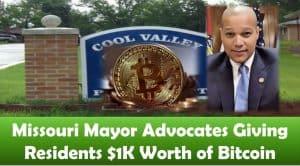 Missouri Mayor Advocates Giving Residents $1K Worth of Bitcoin
